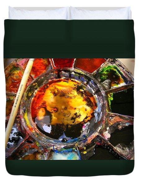 Colours On My Palette Duvet Cover