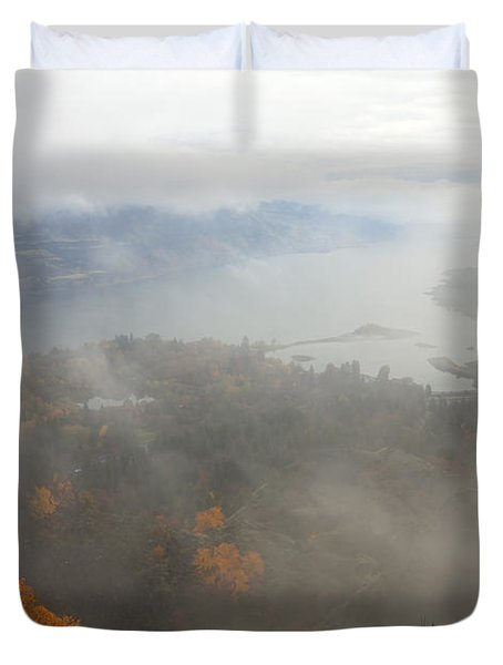 Columbia River Hidden Duvet Cover by Mike  Dawson