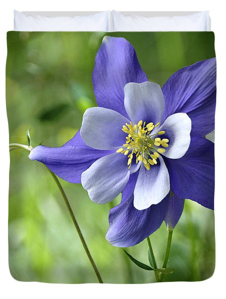 Columbine Card  Duvet Cover