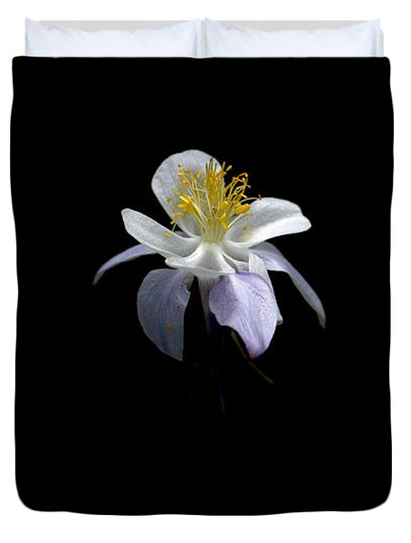 Duvet Cover featuring the photograph Columbine by David Andersen