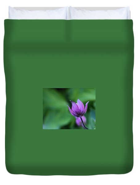 Columbine Flower Bud Duvet Cover