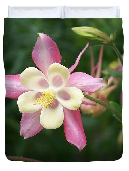 Duvet Cover featuring the photograph Columbine by Kathryn Meyer