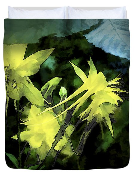 Columbines Painterly Duvet Cover