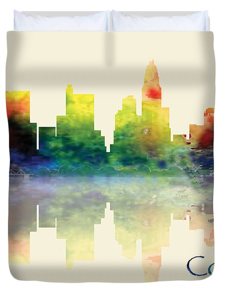 Columbus Skyline Duvet Cover