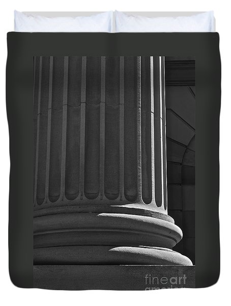Duvet Cover featuring the photograph Column 2 by Linda Bianic
