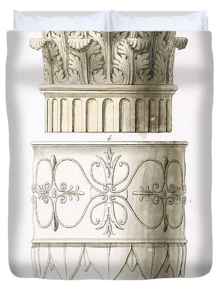 Column And Capital Duvet Cover
