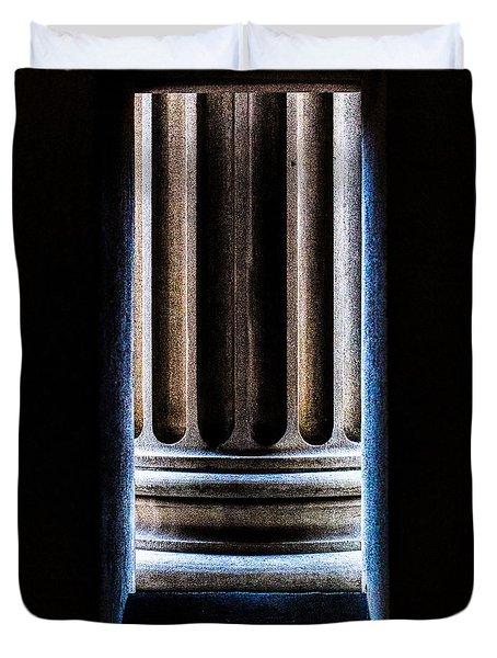 Column Number Nine  Duvet Cover