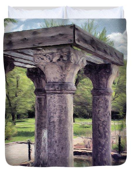 Columns In The Water Duvet Cover by Jeffrey Kolker