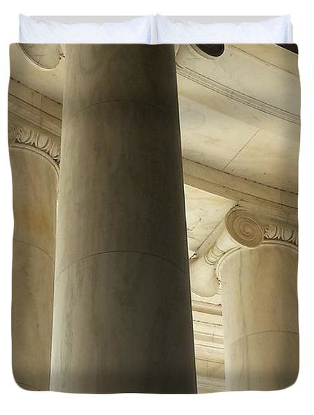 Columns Stand Guard Duvet Cover