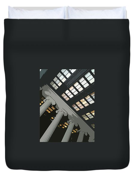 Columns Duvet Cover by Julio Lopez