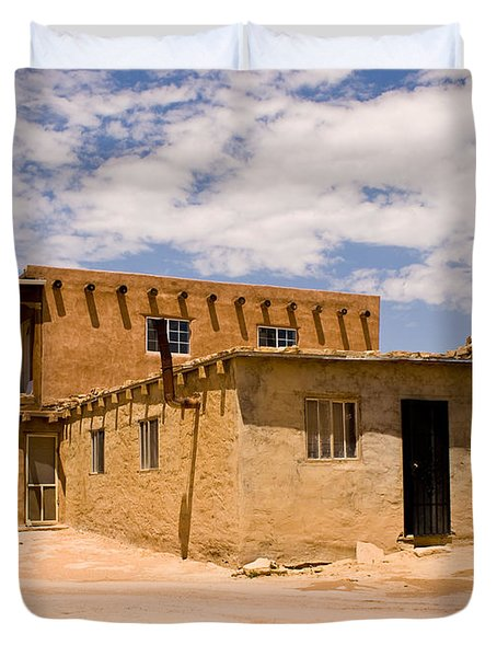 Acoma Pueblo Home Duvet Cover by James Gay