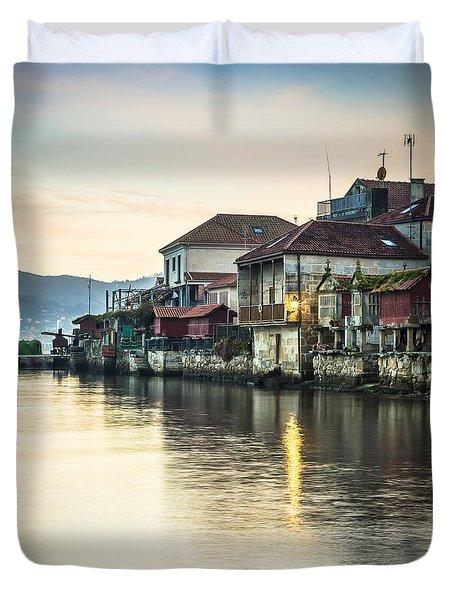 Combarro Pontevedra Galicia Spain Duvet Cover