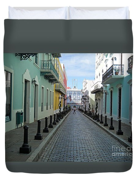 Duvet Cover featuring the photograph San Juan Puerto Rico by Roberta Byram
