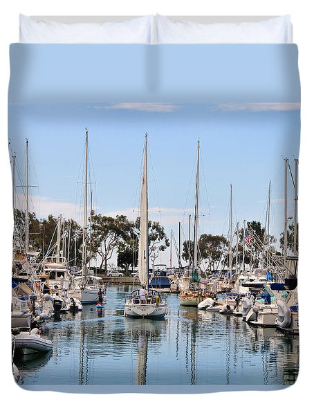 Come Sail Away Duvet Cover by Tammy Espino