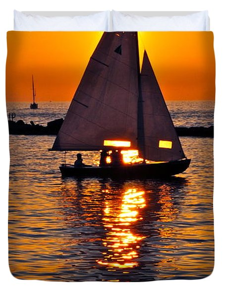 Come Sail Away With Me Duvet Cover by Frozen in Time Fine Art Photography