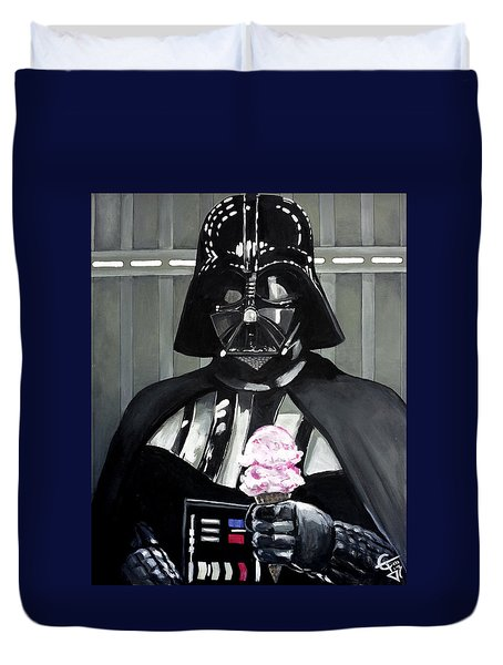 Come To The Dark Side... We Have Ice Cream. Duvet Cover