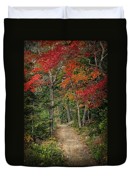 Come Walk With Me Duvet Cover by Priscilla Burgers