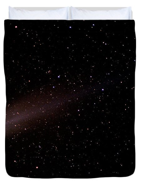 Duvet Cover featuring the photograph Comet Hyakutake by Christopher McKenzie
