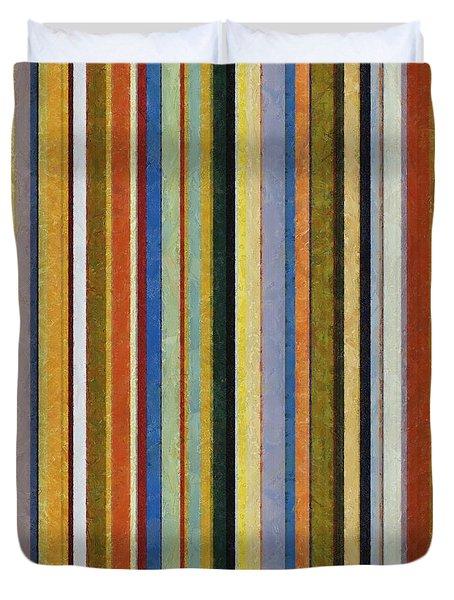 Comfortable Stripes V Duvet Cover by Michelle Calkins