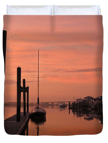 Duvet Cover featuring the photograph Just Rosy by Laura Ragland