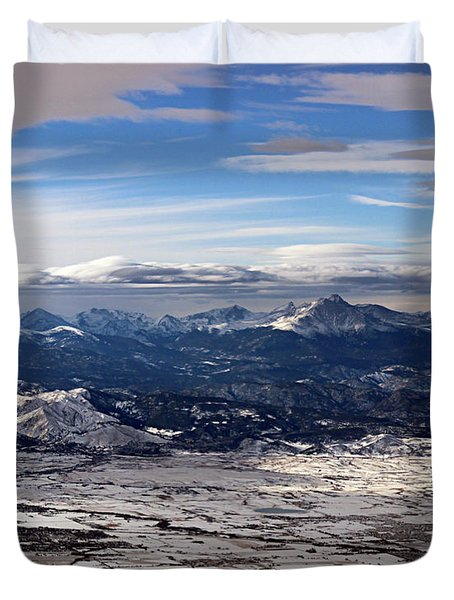 Coming Home To Colorado Springs Duvet Cover