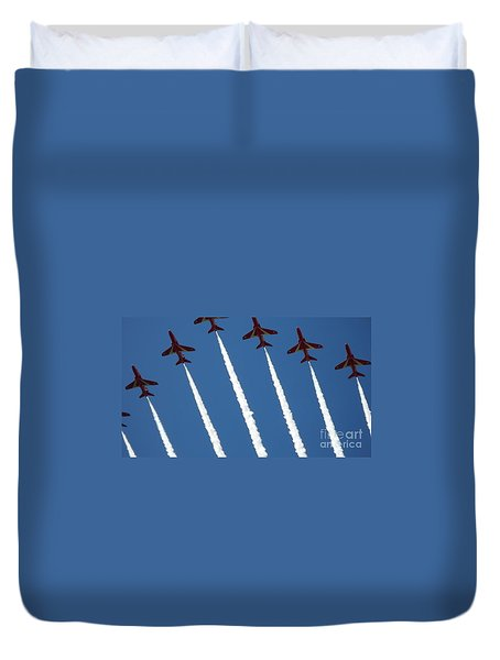 Duvet Cover featuring the photograph Coming To  Land by Tracey Williams