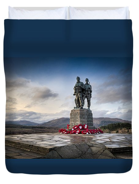 Commando Memorial At Spean Bridge Duvet Cover