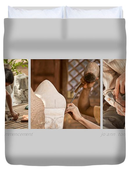 Commencement Triptych Image Art  Duvet Cover