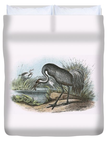 Common Crane Duvet Cover by English School