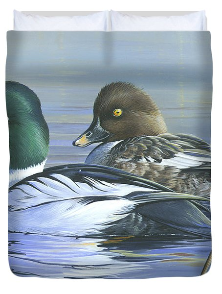 Common Goldeneye Duvet Cover