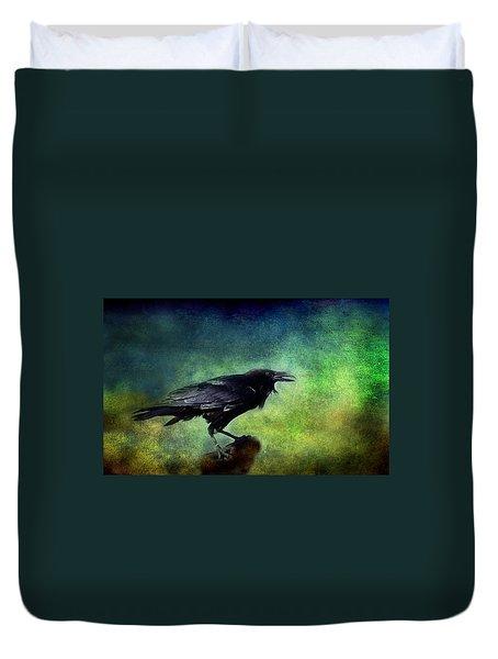 Common Raven Duvet Cover