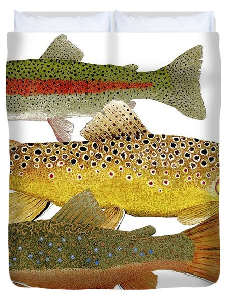 Common Trout  Rainbow Brown And Brook Duvet Cover