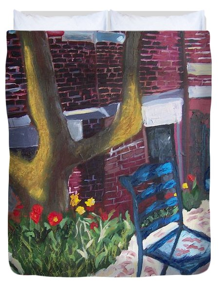 Commonwealth Avenue Boston Duvet Cover by Carmela Cattuti