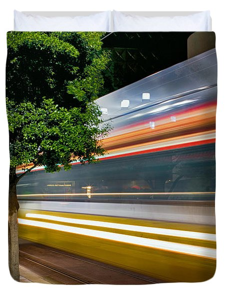 Dallas Commuter Train 052214 Duvet Cover