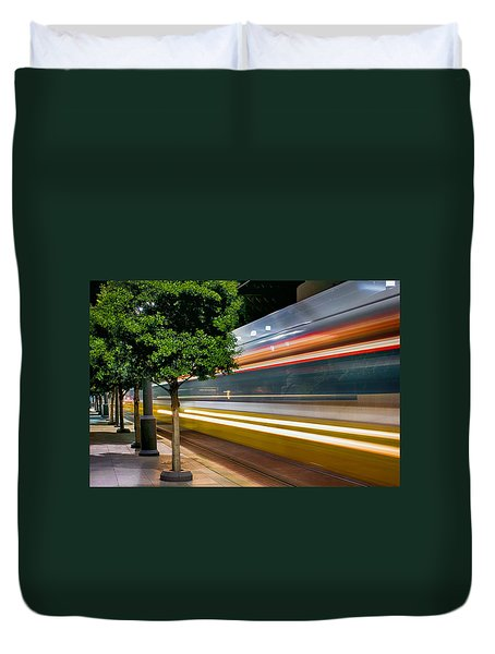 Dallas Commuter Train 052214 Duvet Cover