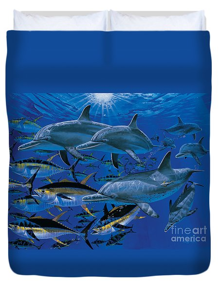 Companions Off00117 Duvet Cover by Carey Chen