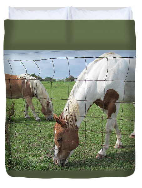 Duvet Cover featuring the photograph Company Of Two by Tina M Wenger