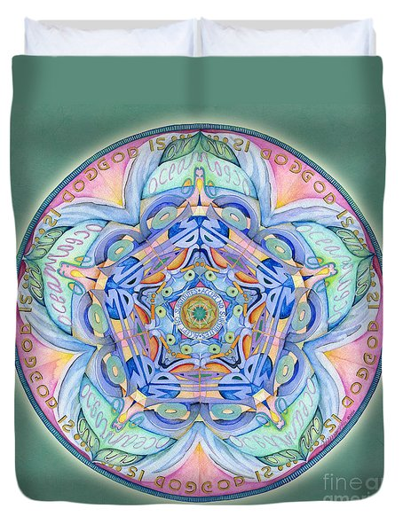 Compassion Mandala Duvet Cover