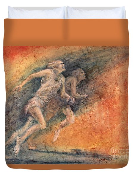 Competition Duvet Cover by Larry  Daeumler