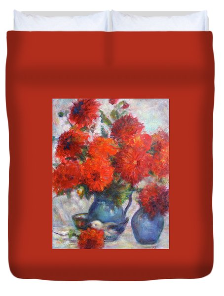 Complementary - Original Impressionist Painting - Still-life - Vibrant - Contemporary Duvet Cover