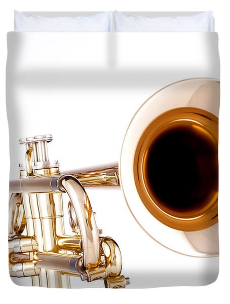 Complete Trumpet Bell Front In Color Isolated 3018.02 Duvet Cover