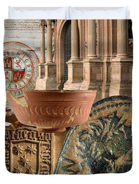 Composition For Poster Xiv Jornadas De Estudios Calagurritanos Duvet Cover by RicardMN Photography