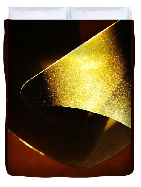 Composition In Gold Duvet Cover