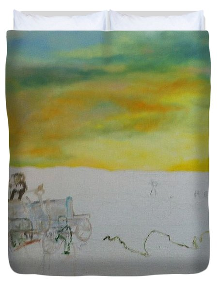 Composition Duvet Cover by Mary Ellen Anderson