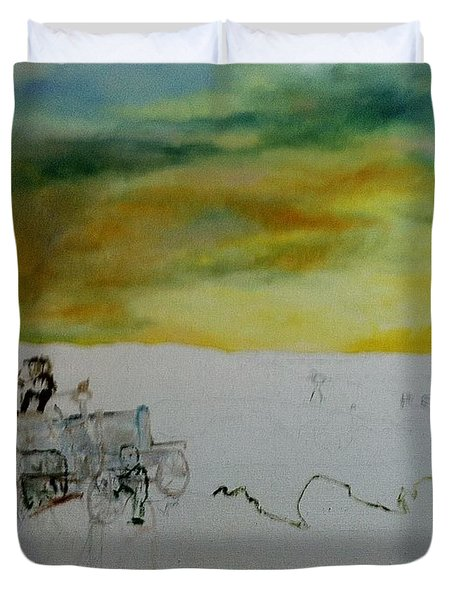 Composition2 Duvet Cover by Mary Ellen Anderson