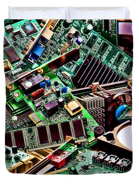 Computer Parts Duvet Cover