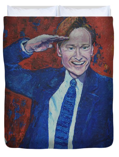 Conan O'brien Flagging Finland Duvet Cover