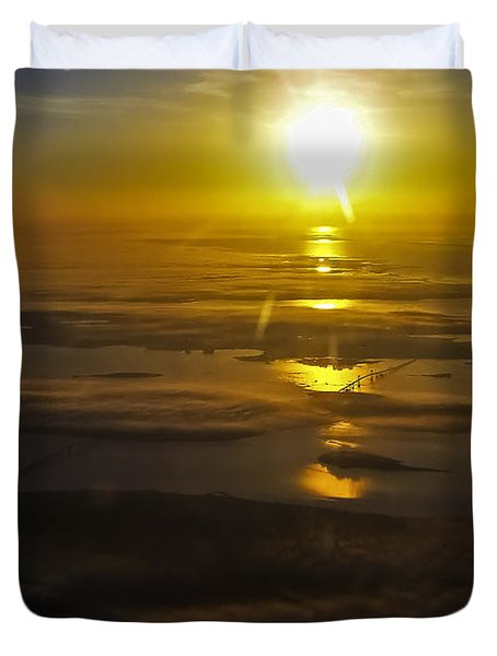 Conanicut Island And Narragansett Bay Sunrise II Duvet Cover