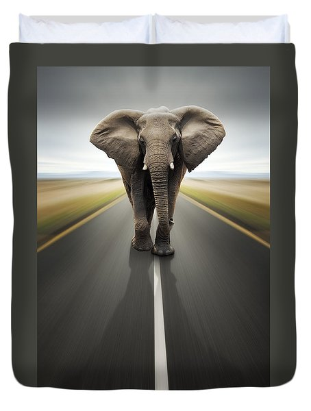 Heavy Duty Transport / Travel By Road Duvet Cover