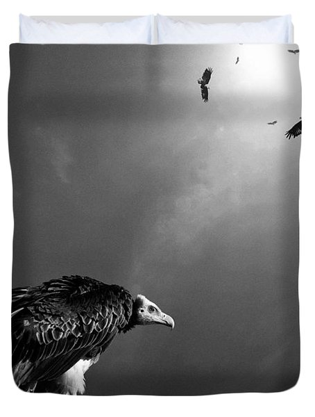 Conceptual - Vultures Awaiting Duvet Cover
